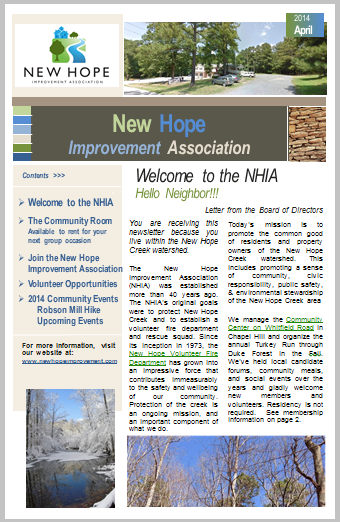 April 2014 Newsletter - Small