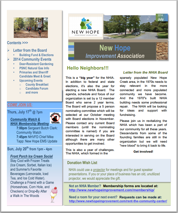 Newsletter - April 2014 - Small Image
