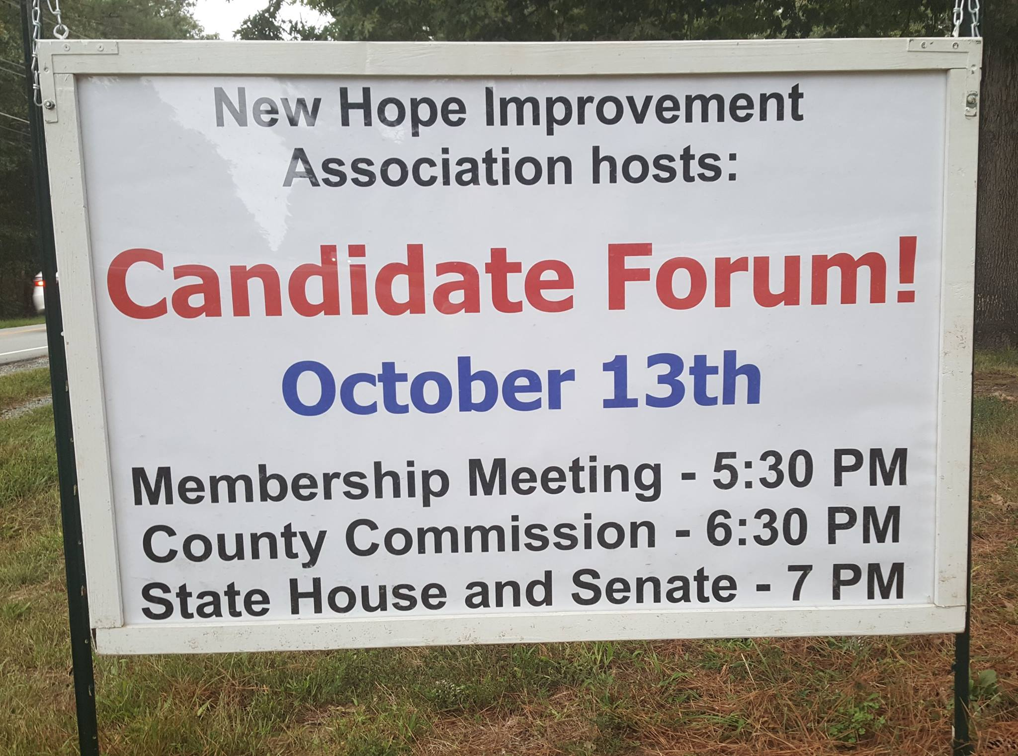 Candidate Forum Sign 2016